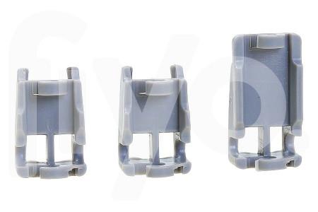 Geleider schuif set voor rail bovenrek (korf) kunststof vaatwasser 00418674