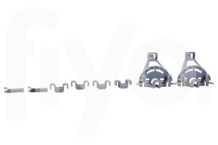 Geleider schuif set voor rail onderrek (korf) kunststof vaatwasser 00428344